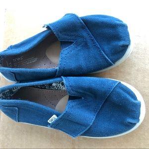 Toms Tony Toms Kids Blue Canvas Shoes Size 11